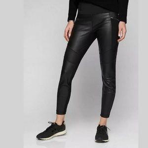 Genuine leather Athleta legging moto pant